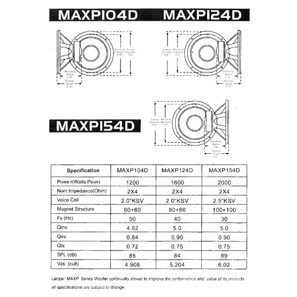new lanzar maxp124d max pro 12 039 039 1600 watt small max pro 12 1600 watt small enclosure dual 4 ohm subwoofer
