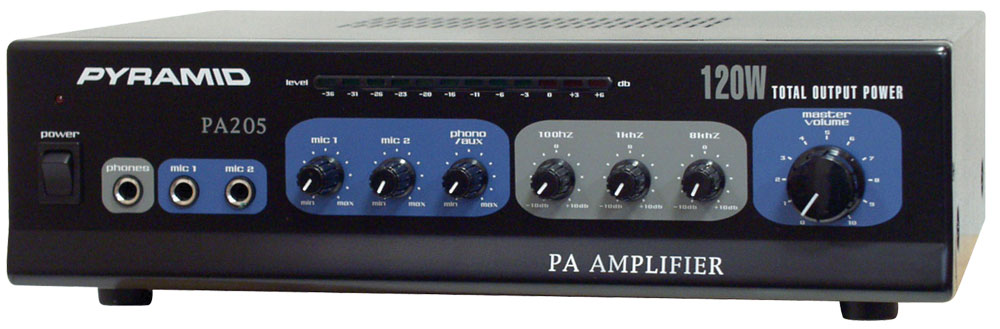pyramid pa205 sound and recording amplifiers receivers. Black Bedroom Furniture Sets. Home Design Ideas