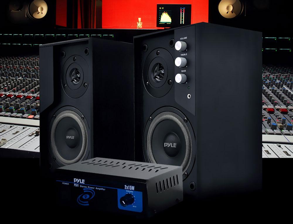 new pylehome pca1 mini 2x15 w stereo power amplifier ebay. Black Bedroom Furniture Sets. Home Design Ideas