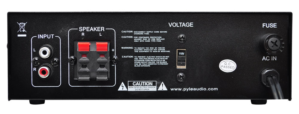 PYLE 240W MINI COMPACT POWER AMP AMPIFIER HOME THEATER