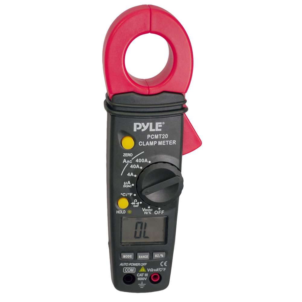 Voltage Clamp Meter : Pyle digital clamp amps meter ac dc voltage current