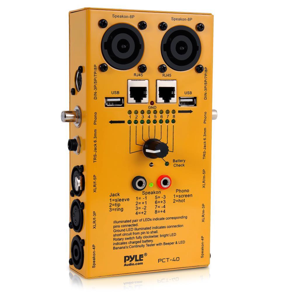 New Pylepro Pct40 12 Plug Pro Audio Cable Tester