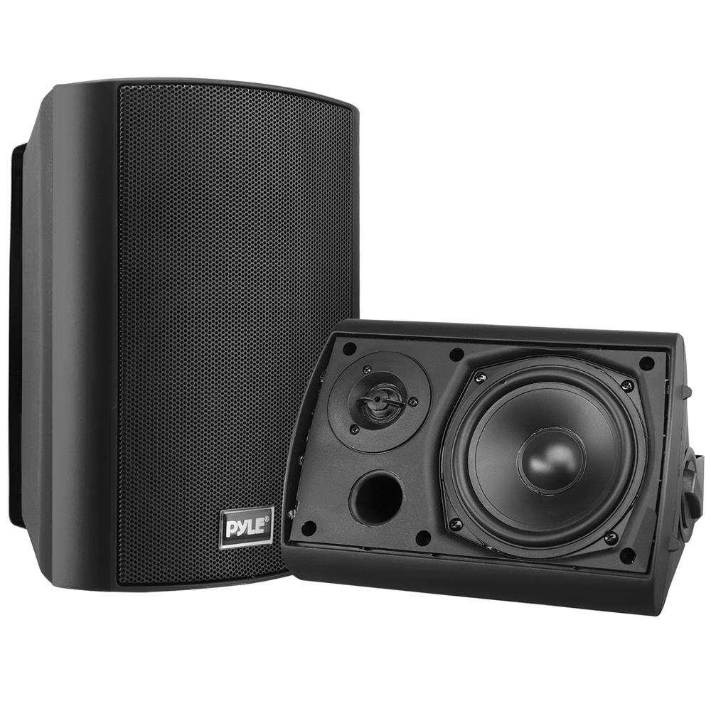 Pyle pdwr52btbk used home and office home speakers - Waterproof sound system for bathroom ...