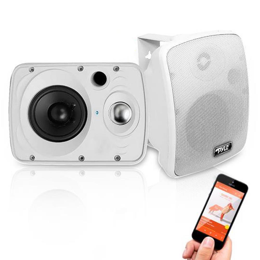 White Pyle Home PDWR40W 5.25-Inch Indoor//Outdoor Waterproof Speakers
