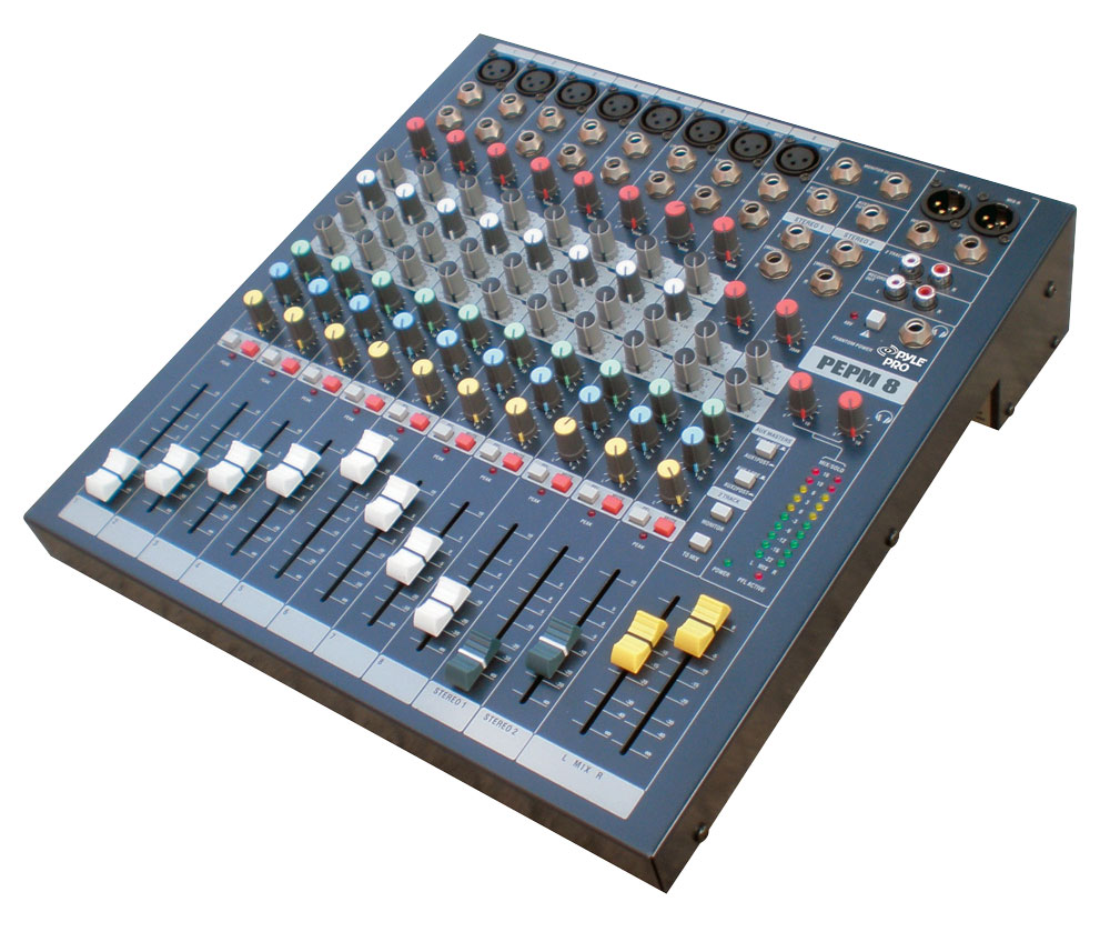 pylepro pemp8 sound and recording mixers dj controllers. Black Bedroom Furniture Sets. Home Design Ideas