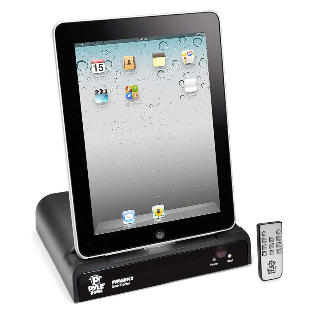 new pyle pipadk2 universal ipod ipad iphone docking station remote control ebay. Black Bedroom Furniture Sets. Home Design Ideas