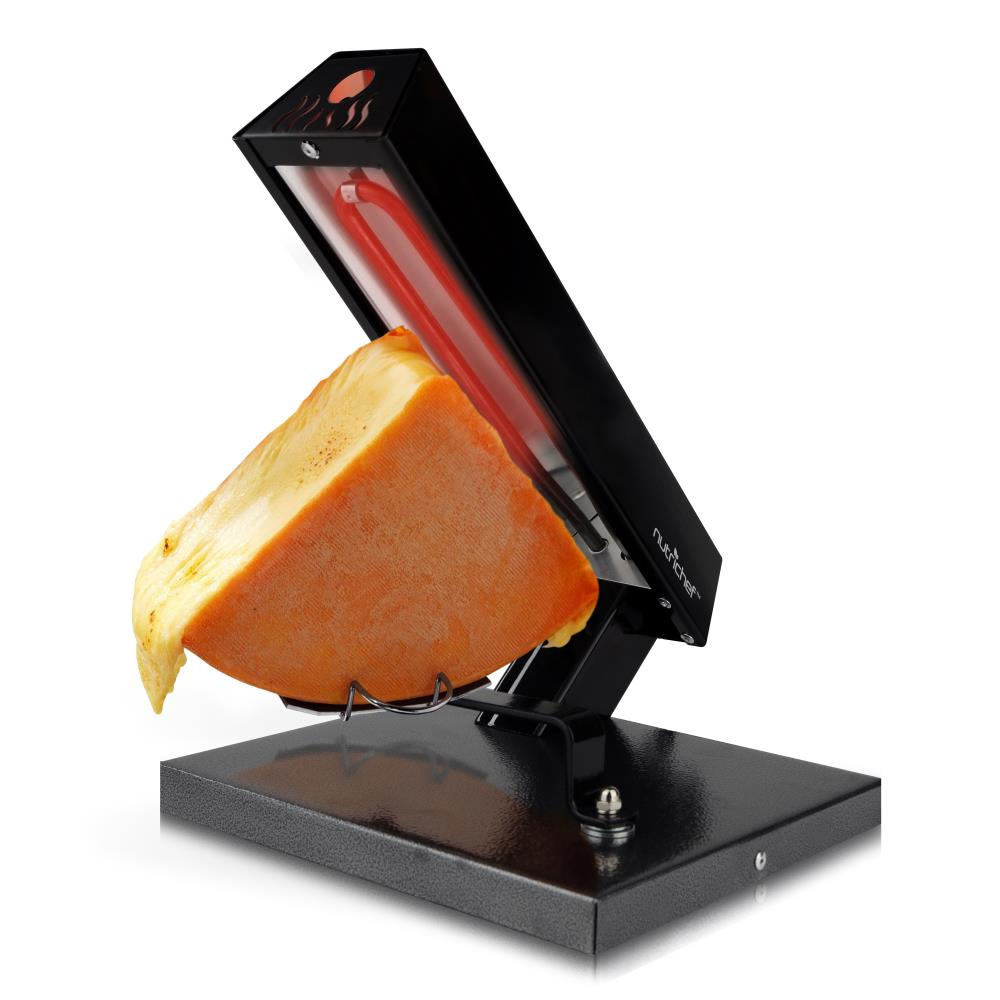 nutrichef pkchmt24 electric cheese warmer melter raclette 500 watt black ebay. Black Bedroom Furniture Sets. Home Design Ideas