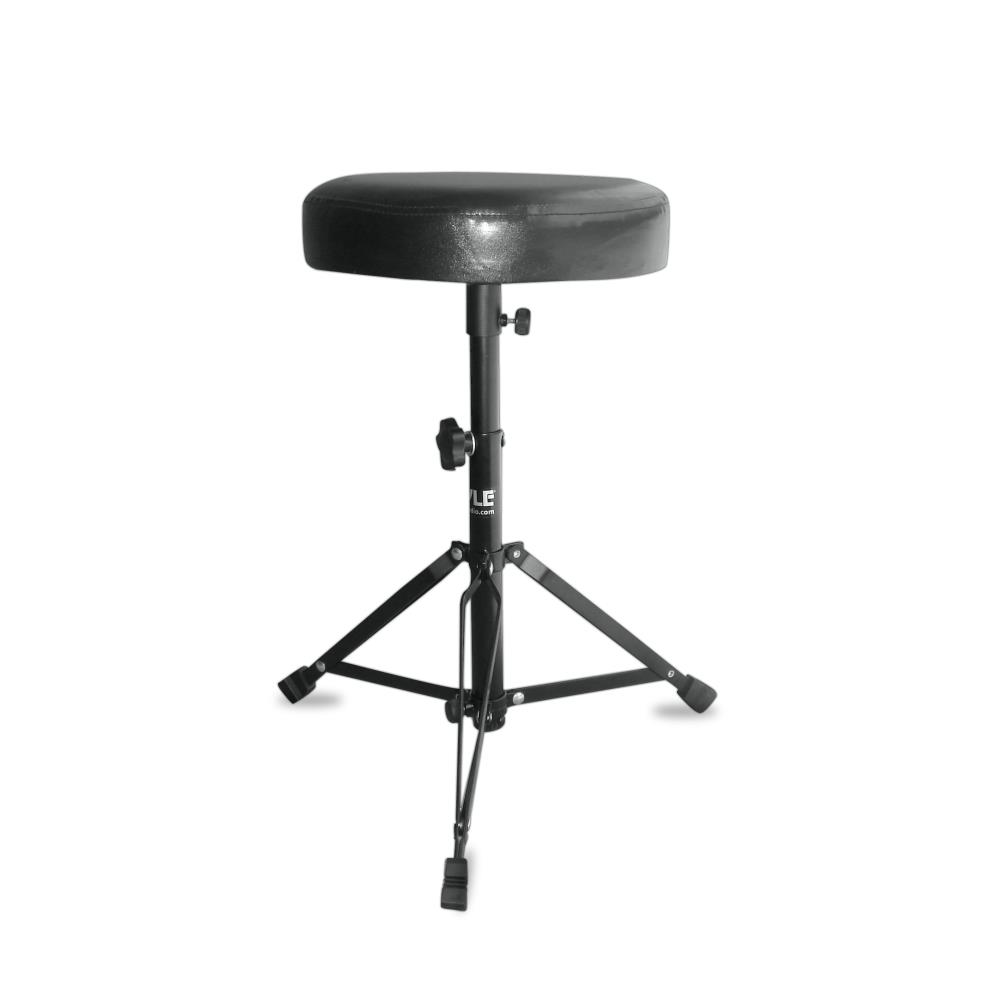NEW Pyle PKST50 Double Braced Folding Padded Drum Throne