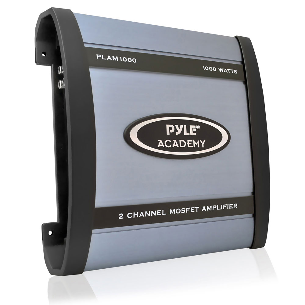 Pyle - PLAM1000 , On the Road , Vehicle Amplifiers , 1000 Watts 2 Channel  Bridgeable
