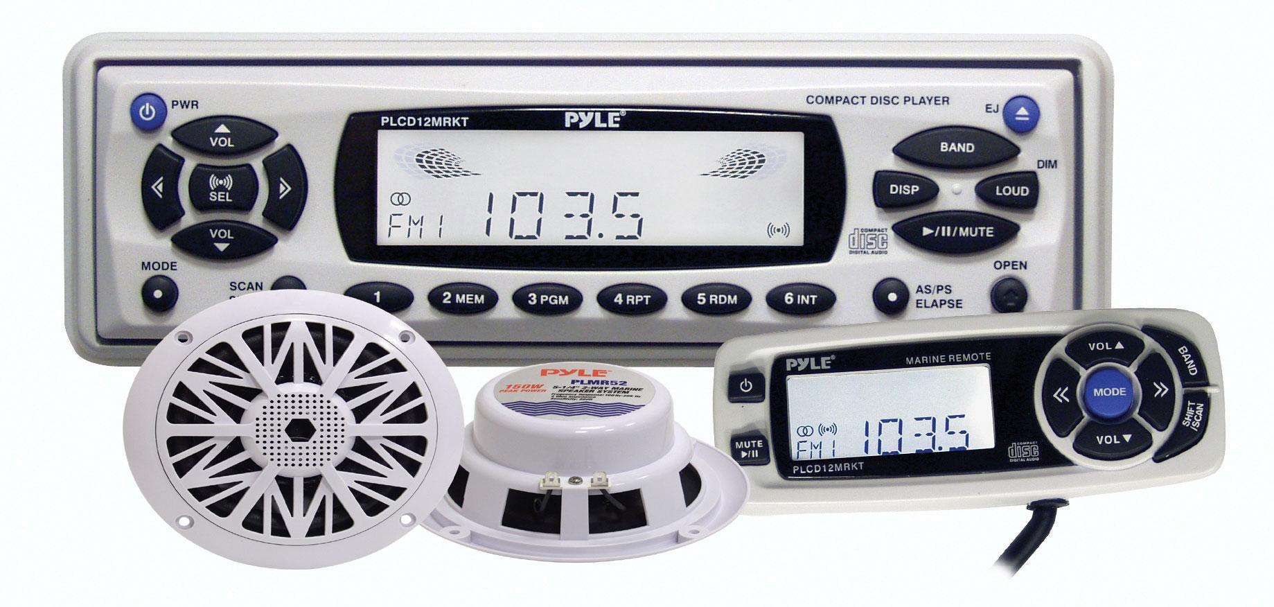 Pyle - PLCD12MRKT - Marine and Waterproof - Headunits - Stereo Receivers