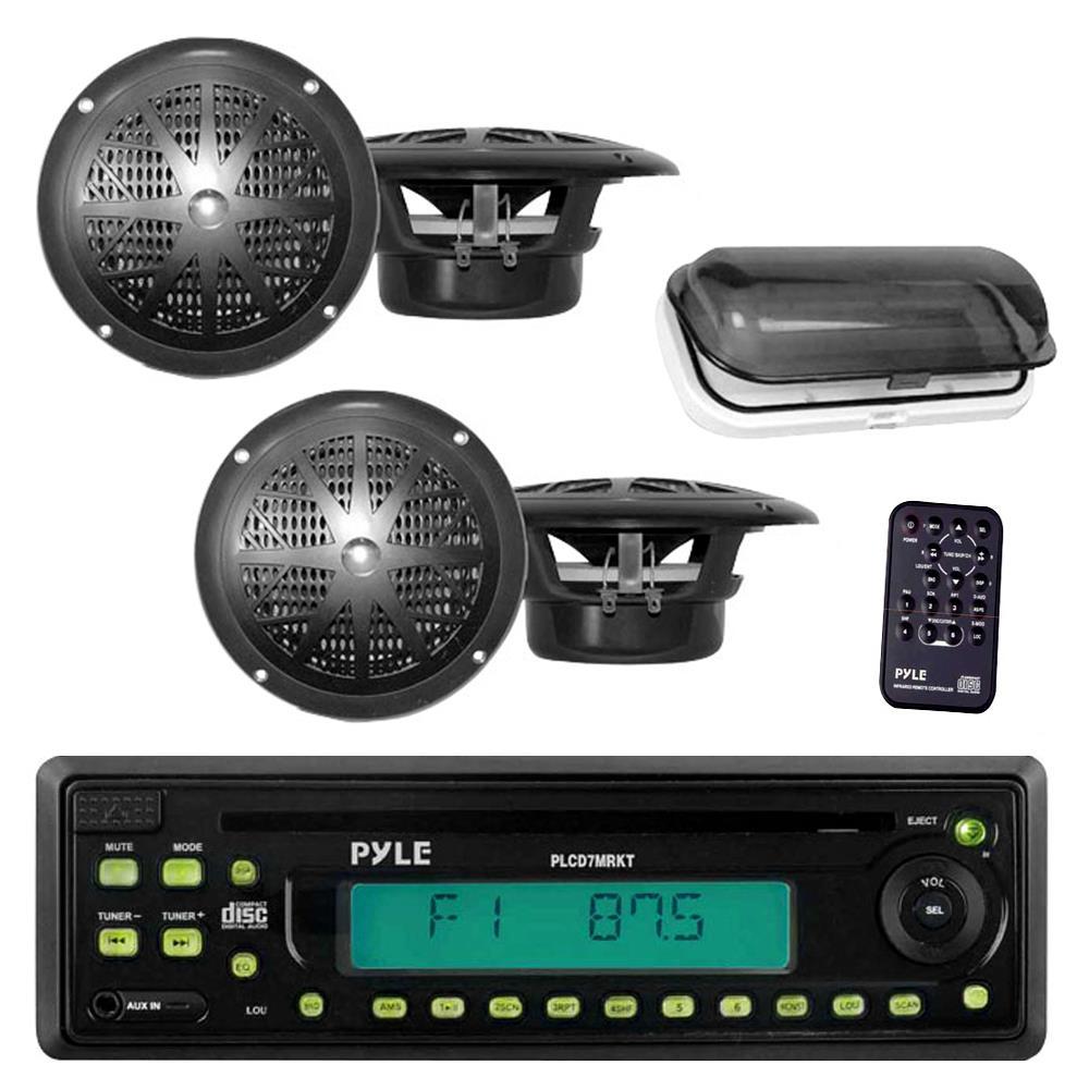 Pyle - PLCD7MRKT - Marine and Waterproof - Receiver & Speaker Kits