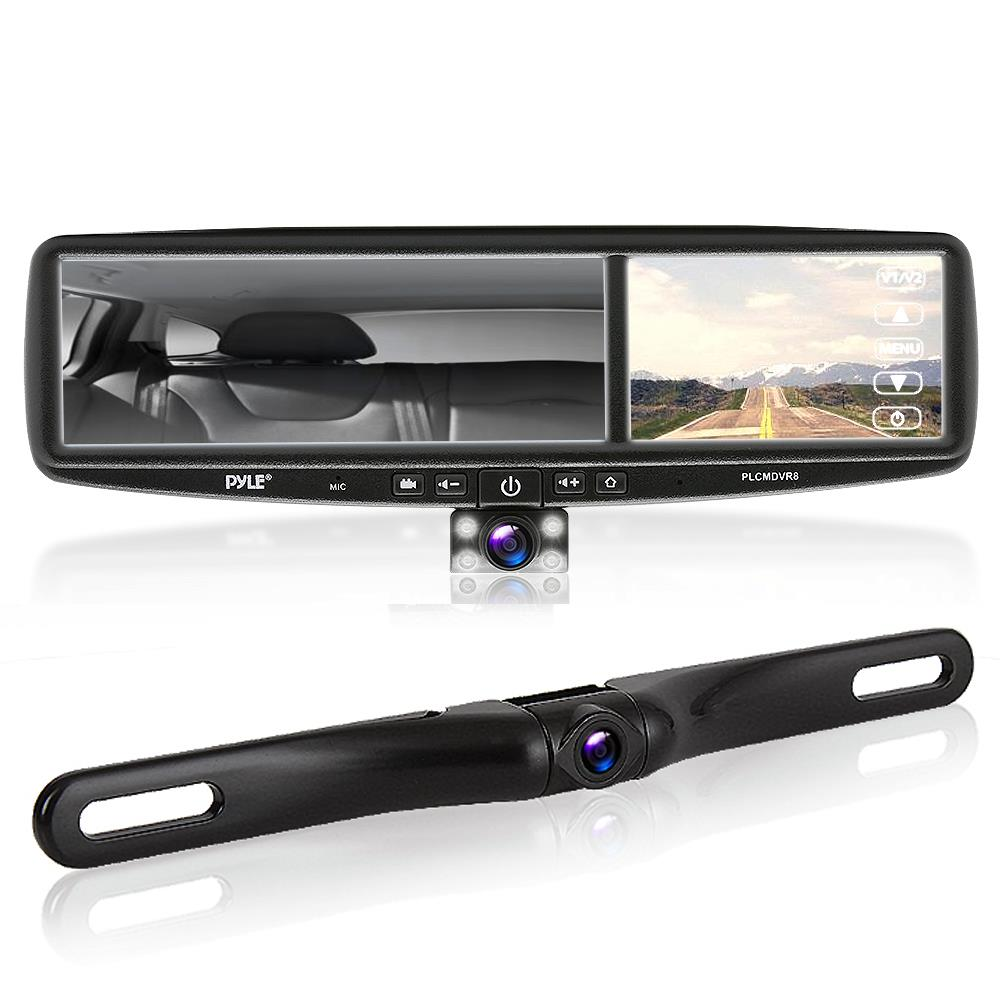 Pyle plcmdvr8 on the road rearview backup cameras for Mirror video
