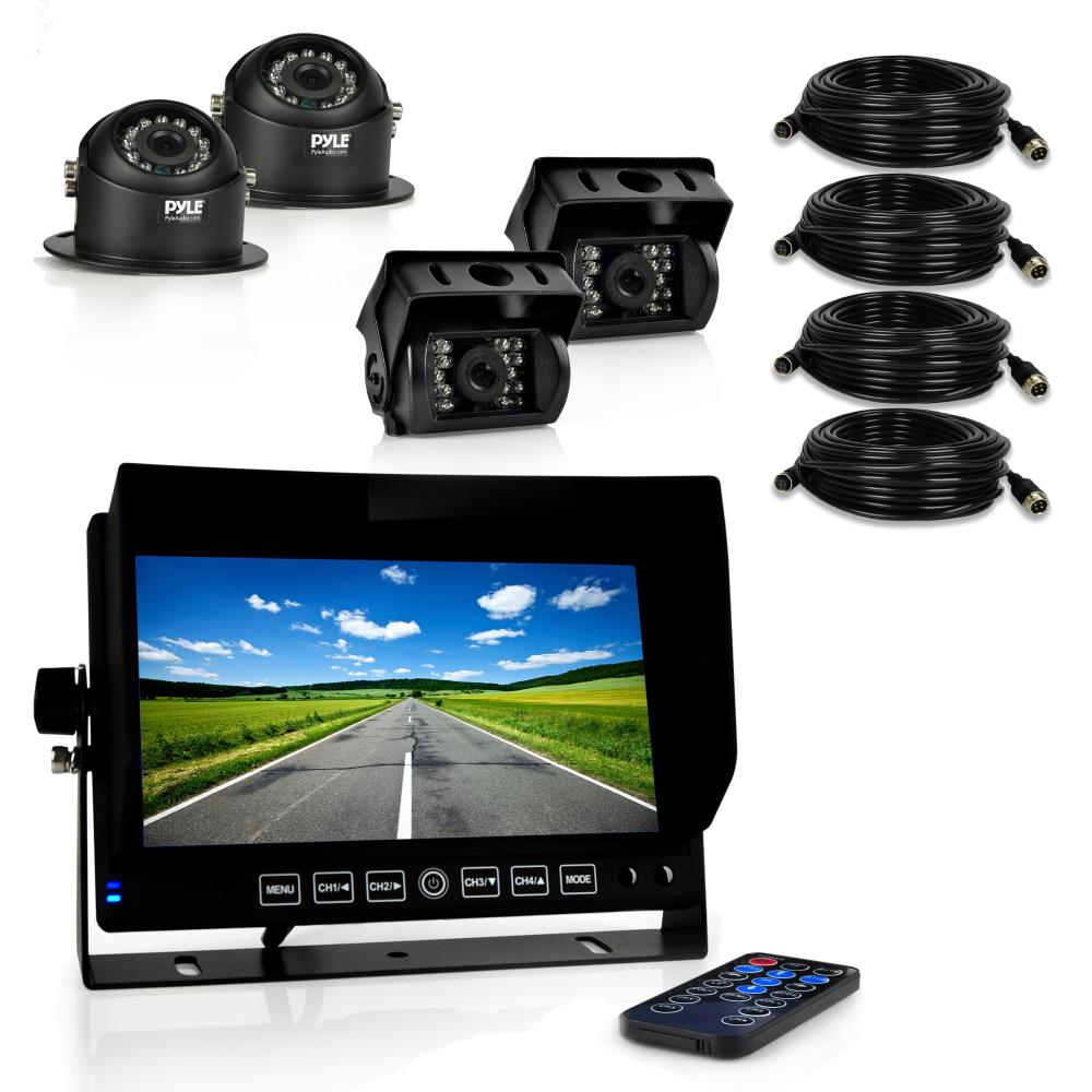 Pyle Plcmtrdvr46 On The Road Rearview Backup Cameras
