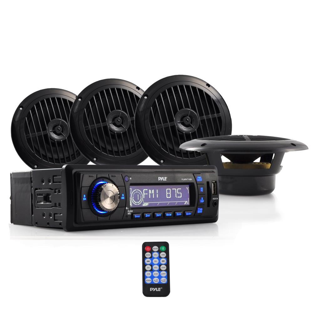 Pyle - PLMRKT14BK , Marine and Waterproof , Receiver & Speaker Kits ,  Marine Stereo Receiver