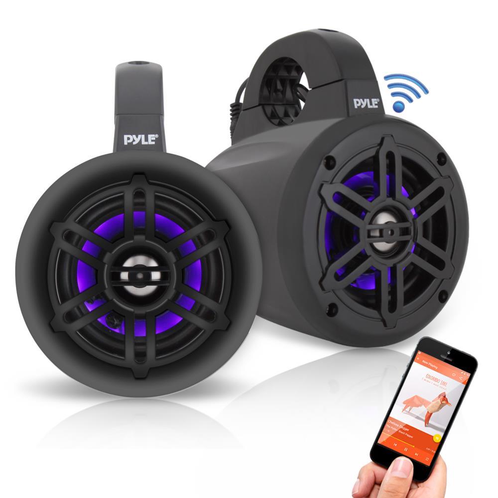 Pyle - PLMRLEWB47BB - Marine and Waterproof - Vehicle Speakers - On Wakeboard Tower Speaker Wiring Harness on
