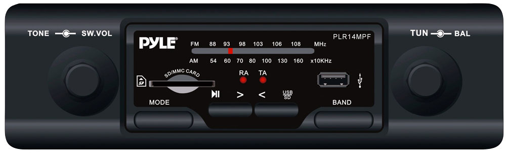 Pyle - PLR14MPF - On the Road - Headunits - Stereo Receivers