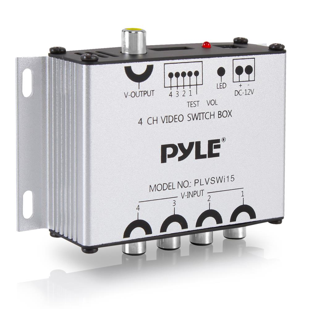 Pyle - PLVSWI15 - On the Road - Video Monitors  Channel Video Switcher Wiring Diagram on sound diagrams, voice diagrams, audio wiring diagrams, data diagrams, residential wiring diagrams,