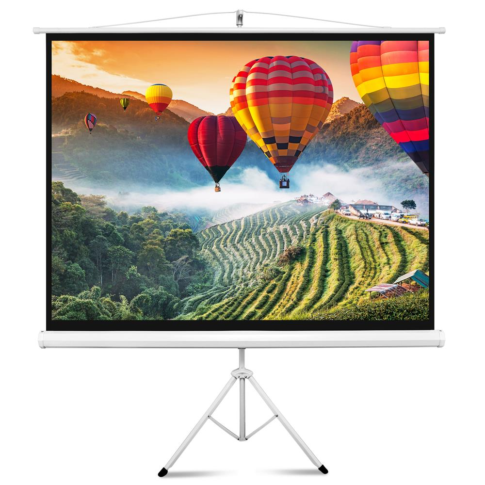 Large Portable Screen Rolled Up : Pyle prjtp home and office projector screens