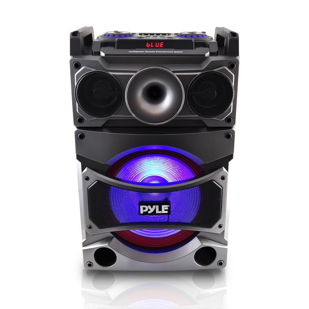 pyle 2000w 12 portable active dj pa speaker bluetooth karaoke wireless mic ebay. Black Bedroom Furniture Sets. Home Design Ideas