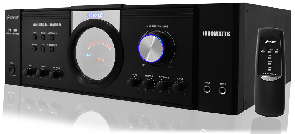 pylehome pt1100 home and office amplifiers receivers sound and recording amplifiers. Black Bedroom Furniture Sets. Home Design Ideas