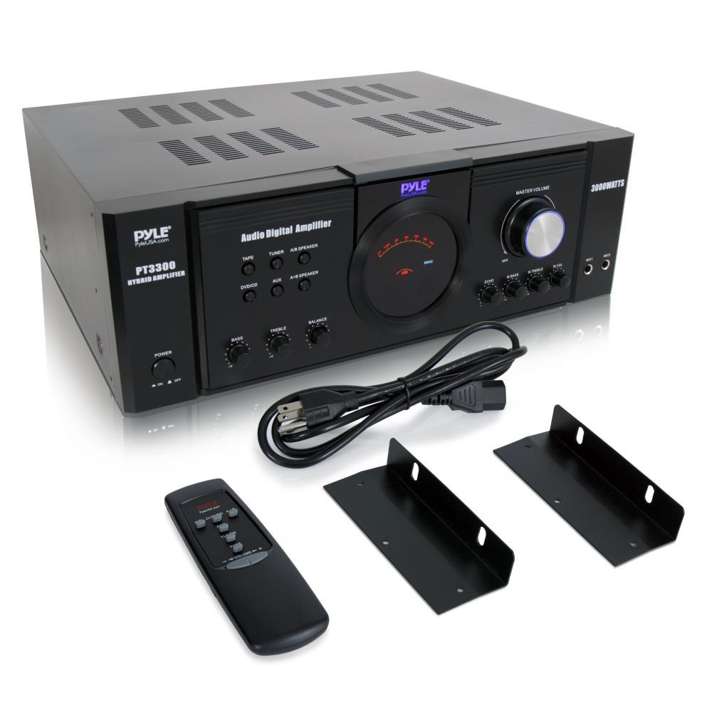 Pyle Pta4 Stereo Amplifier Amazoncom Home Ptau45 Mini 2x120 Watt Max Power 2 X 40watt Usbsdaux Pylehome Pt3300 And Office Amplifiers