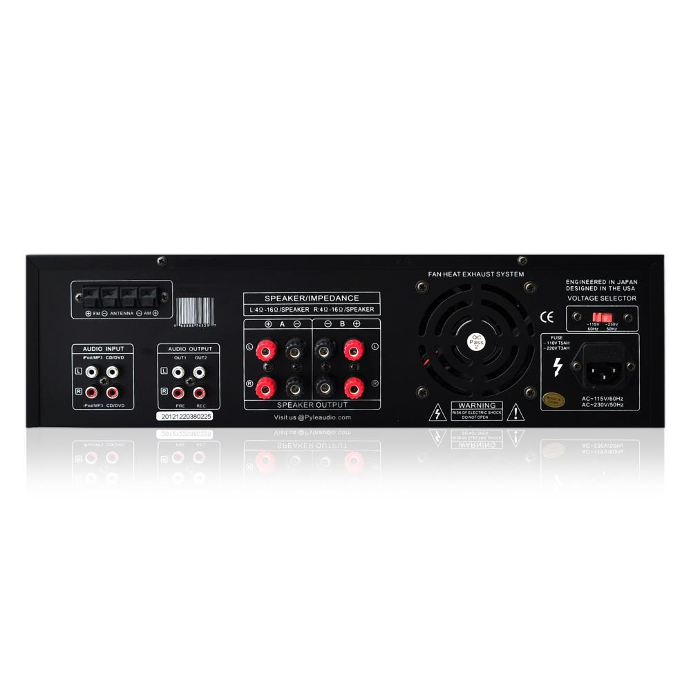 300w dj professional home audio digital stereo 4 channel power amp amplifier fm. Black Bedroom Furniture Sets. Home Design Ideas