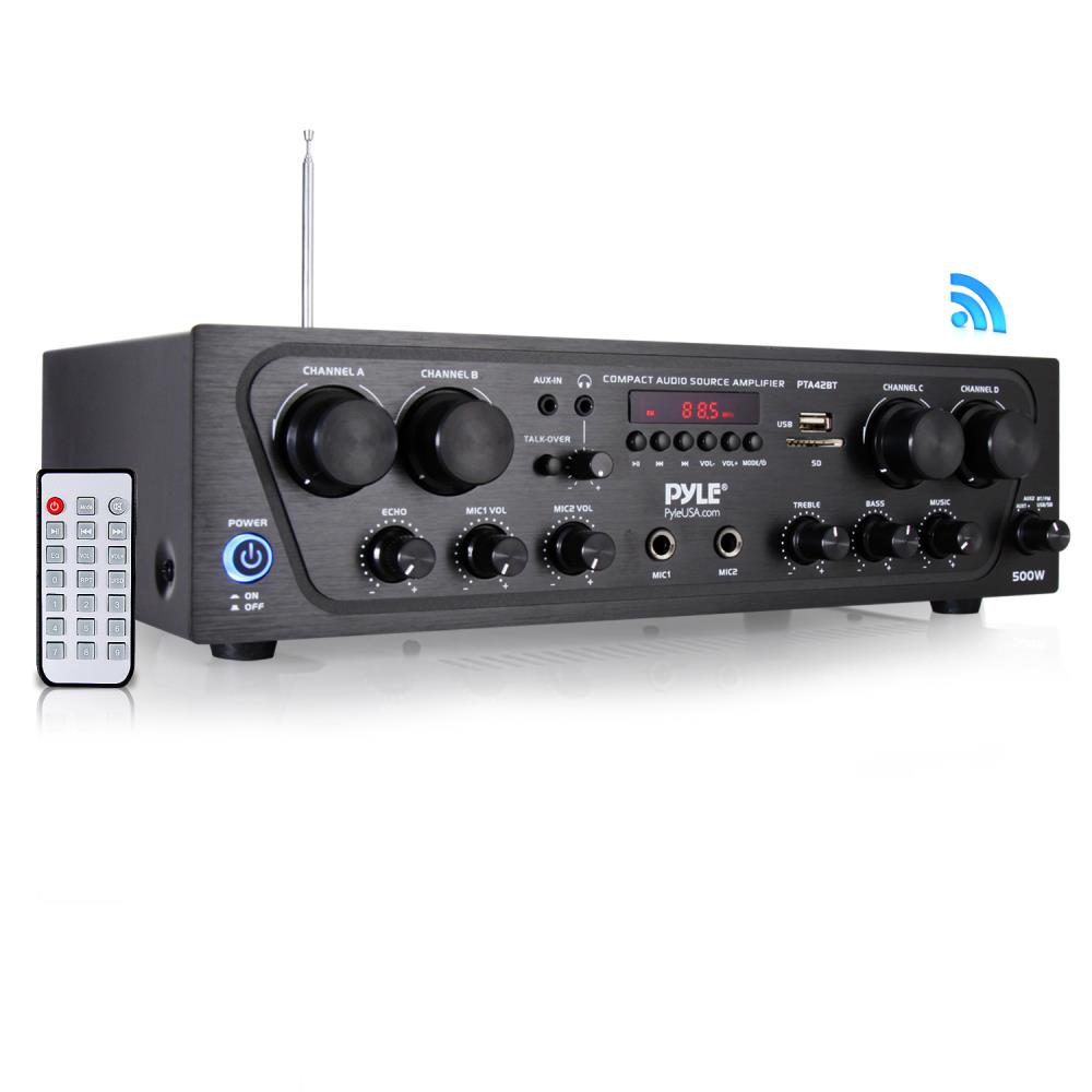 Pyle Pta42bt Home And Office Amplifiers Receivers Sound Audio Recording Compact Bluetooth