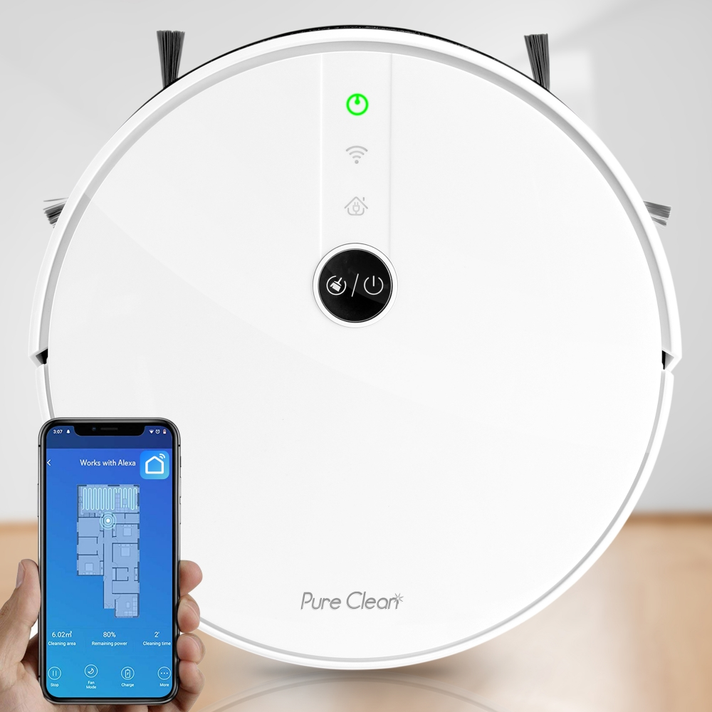 Pure Clean Pucrc455 Home And Office Robot Vacuum