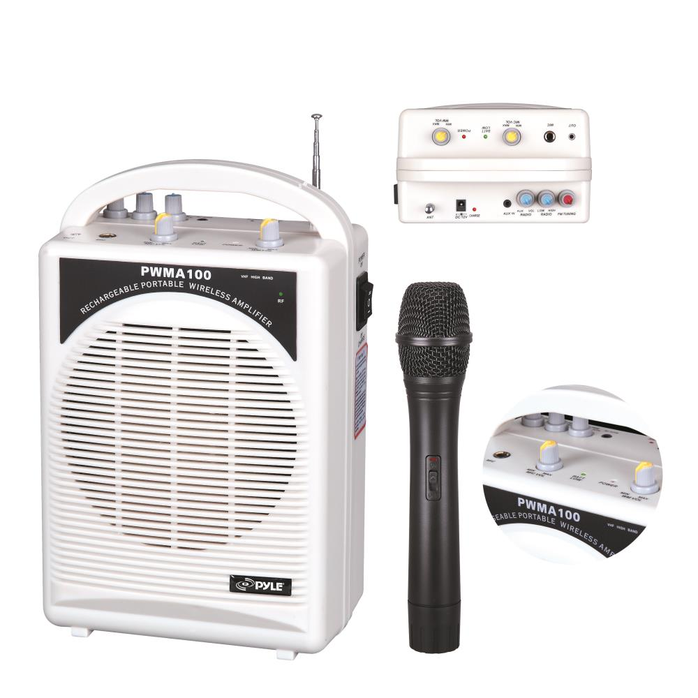 New Pylepro Pwma100 Rechargeable Portable Pa System With
