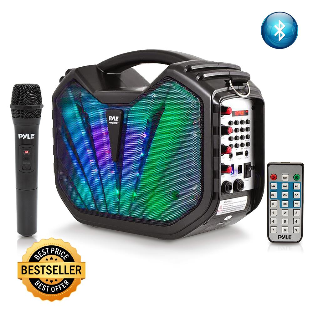 pyle pwma285bt home and office portable speakers boom boxes sports and outdoors. Black Bedroom Furniture Sets. Home Design Ideas