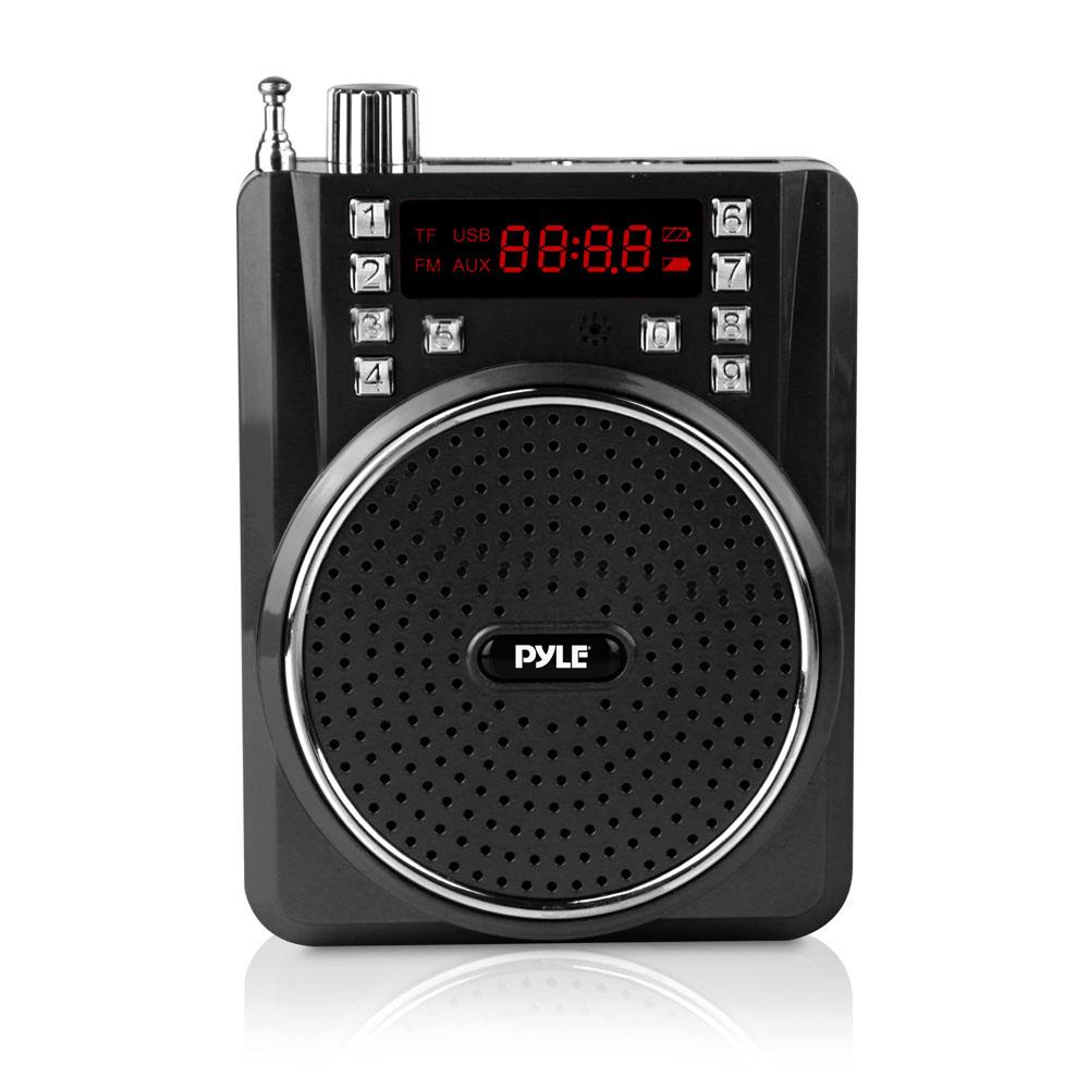 Pyle Portable Bluetooth Pa Speaker System Wireless Headset