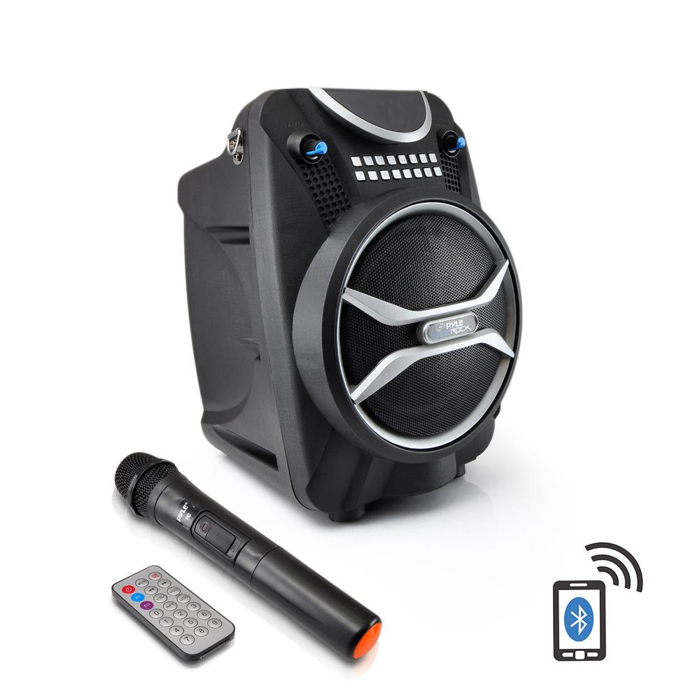NEW Pyle PWMAB210BK 300W Bluetooth Portable Speaker & Recorder W/ Wireless Mic
