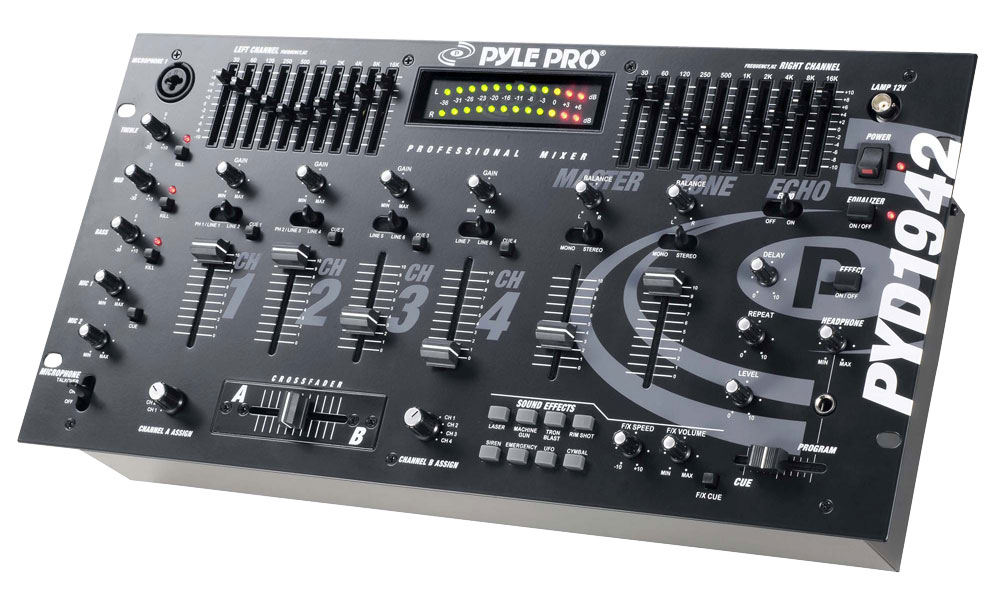 pylepro pyd1942 sound and recording mixers dj controllers. Black Bedroom Furniture Sets. Home Design Ideas