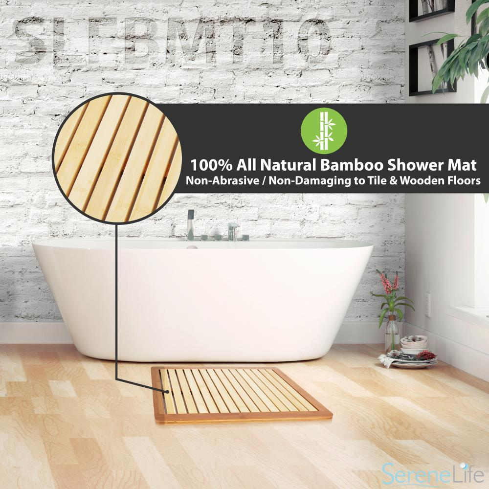 bamboo or bath discount at mat product floor shower