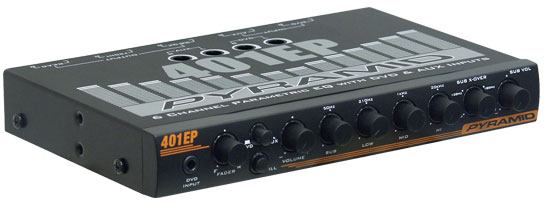 In Dash 6 Channel Parametric Equalizer W Subwoofer Control