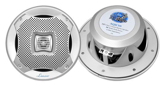 Pyle - AQ5CXS , Used , 400 Watts 5.25'' 2-Way Marine Speakers (Silver Color)