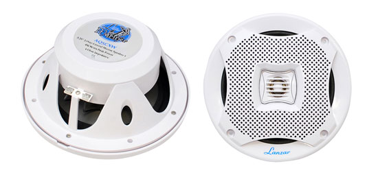 Pyle - AQ5CXW , Used , 400 Watts 5.25'' 2-Way Marine Speakers (White Color)