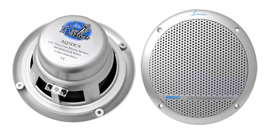 Pyle - AQ5DCS , Used , 300 Watts 5.25'' Dual Cone Marine Speakers (Silver Color)