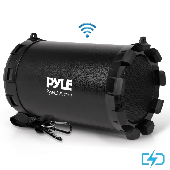 Pyle - AZPBMSPG15 , Sports and Outdoors , Portable Speakers - Boom Boxes , Gadgets and Handheld , Portable Speakers - Boom Boxes , Portable Bluetooth BoomBox Speaker - Compact Wireless Radio Speaker System with Built-in Rechargeable Battery, MP3/USB/SD Readers, FM Radio