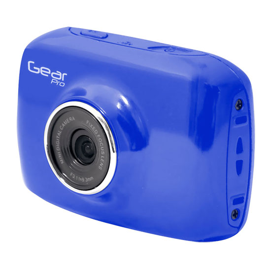 Pyle - GDV123BL , Gadgets and Handheld , Cameras - Videocameras , High-Definition Sport Action Camera, 720p Wide-Angle Camcorder With 2.0 Touch Screen SD Card Slot, USB Plug And Mic (Blue color)
