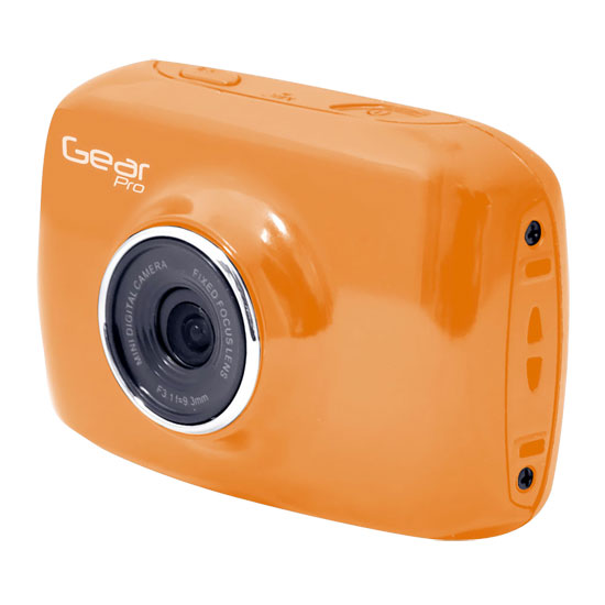 Pyle - GDV123OR , Personal Electronics , Camera & Photo , High-Definition Sport Action Camera, 1080p 720p Wide-Angle Camcorder With 2.0 Touch Screen SD Card Slot, USB Plug And Mic  (Orange color)