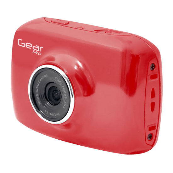 Pyle - GDV123RD , Personal Electronics , Camera & Photo , High-Definition Sport Action Camera, 1080p 720p Wide-Angle Camcorder With 2.0 Touch Screen SD Card Slot, USB Plug And Mic  (Red color)