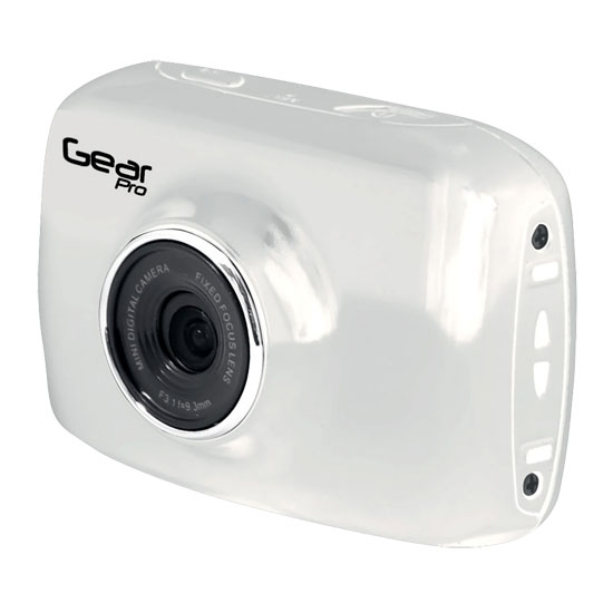 Pyle - GDV123WT , Personal Electronics , Camera & Photo , High-Definition Sport Action Camera, 1080p 720p Wide-Angle Camcorder With 2.0 Touch Screen SD Card Slot, USB Plug And Mic (White color)