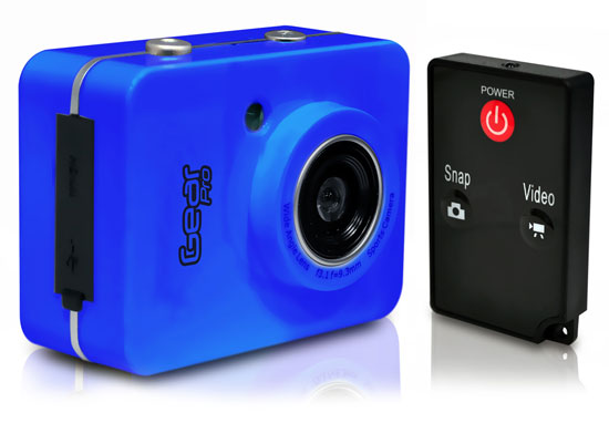 Pyle - GDV285BL , Personal Electronics , Camera & Photo , Gear Pro HD 1080P Action Camera Hi-Res Digital Camera/Camcorder with Full HD Video, 12.0 Mega Pixel Camera & 2.4'' Touch Screen (Blue Color)