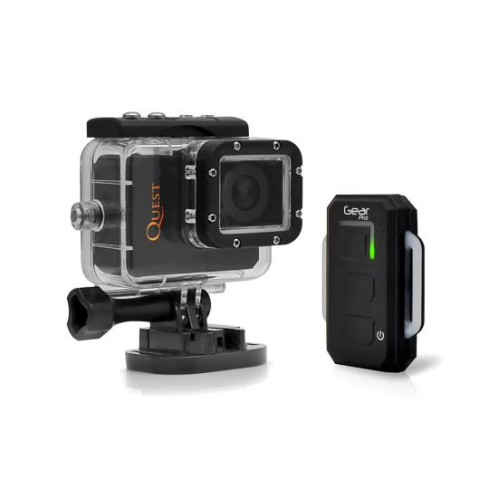 Pyle - GDV995BK , Gadgets and Handheld , Cameras - Videocameras , Gear Pro Quest Wi-Fi Action Cam, Full HD Hi-Resolution 1080p Video, 16 Mega Pixel Camera, 2.0'' LCD Display, Wireless Remote, Free Downloadable App, Waterproof Case