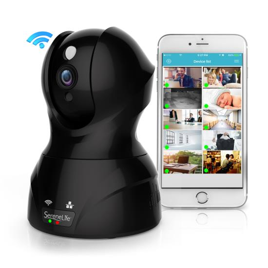 Pyle - IPCAMHD82EU , Gadgets and Handheld , Cameras - Videocameras , 1080p IP Camera - HD WiFi Cam, Remote Video Monitoring Surveillance Security, Built-In Speaker & Microphone, Smartphone App Control