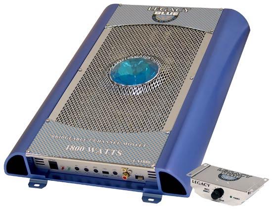 2 Channel 1800 Watt High Speed Bridgeable MOSFET Amplifier