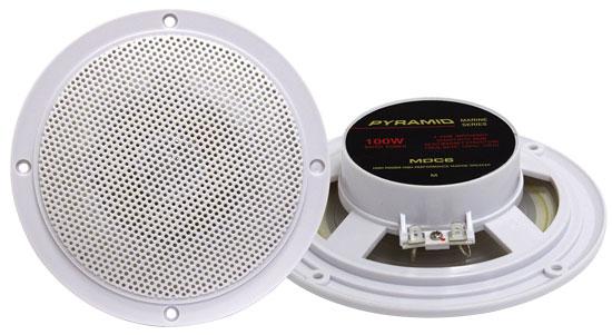 Pyle - MDC6 , Used , 5.25'' Marine 100 Watts Dual Cone Waterproof Stereo Speakers
