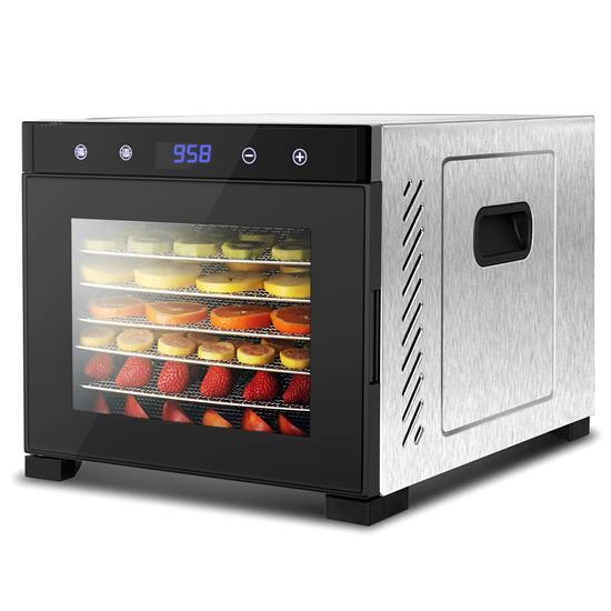 Pyle - NCDH6S.5 , Kitchen & Cooking , Dehydrators & Steamers , Premium Food Dehydrator Machine - 6 Stainless Steel Trays with Digital Timer and Temperature Control, 600 Watts