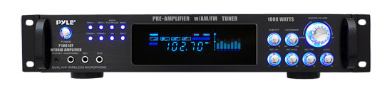 Pyle - P1001AT , DJ Equipment , Power Amplifiers , 1000 Watts Hybrid Pre-Amplifier w/AM/FM Tuner